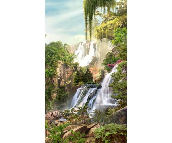 Фотообои Водопад на склонах гор