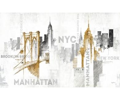 Фотообои Нью Йорк зарисовка
