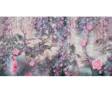 Фотообои Композиция с цветами сакуры