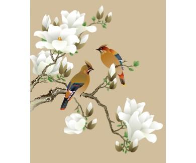 Фотообои Очарованные птицы