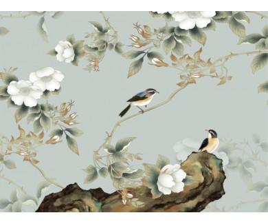 Фотообои Птенцы и цветы