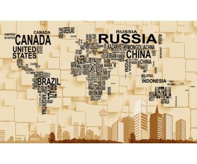 Фотообои Надписи стран