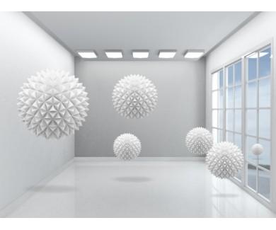 Фотообои Колючие шары в комнате