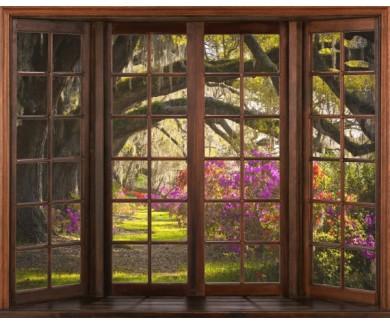 Фотообои Вид из окна на лес