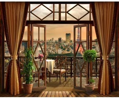 Фотообои Вид из окна на ночной город