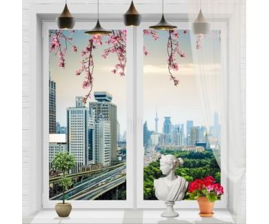Фотообои Вид на город из окна