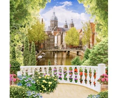 Фотообои Вид на городскую реку
