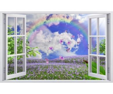 Фотообои Вид на луг из окна