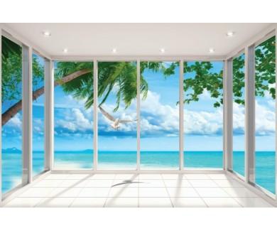 Фотообои Вид на море из комнаты