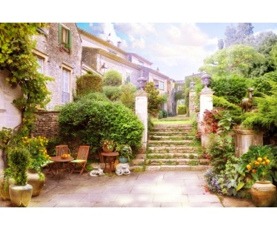 Фотообои Двор у дома