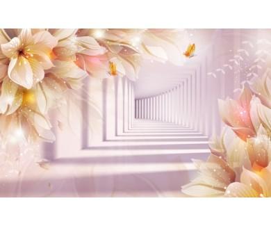Фотообои Туннель и цветы