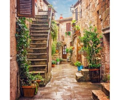 Фотообои Аллея в Старом городе Питильяно