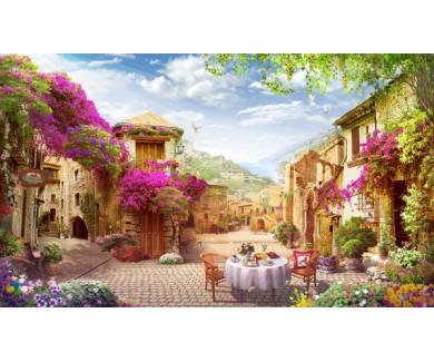 Фотообои Весеннее чаепитие на улице
