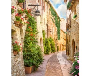 Фотообои Узкая улочка в Италии