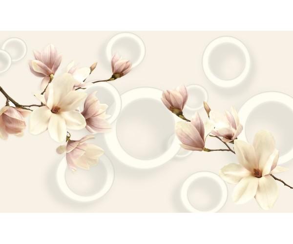 Фотообои Бежевые цветы