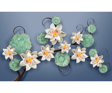 Фотообои Белые цветы 3D
