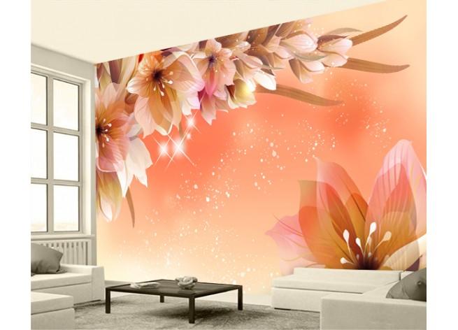 Фотообои Блестящие цветы