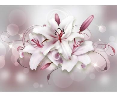 Фотообои Объёмные цветы