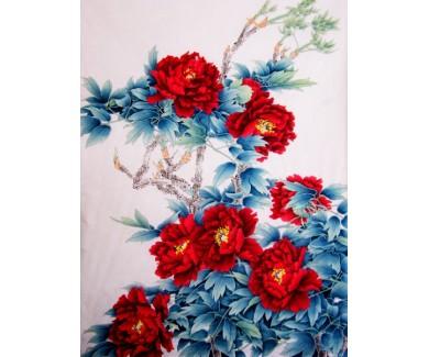 Фотообои Ярко красные цветы
