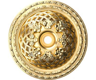 Наклейка на потолок Выпуклый золотой круг