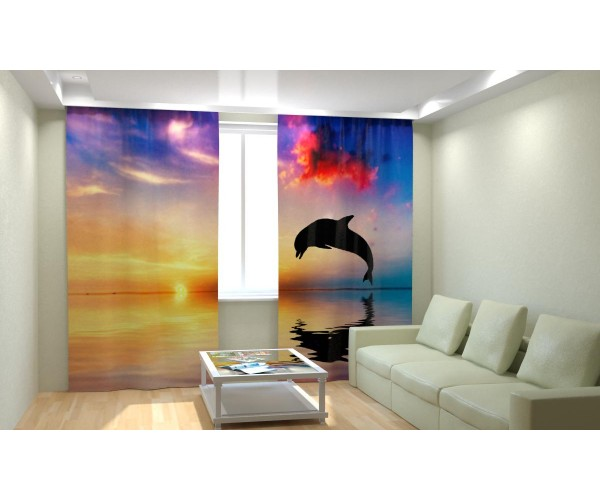 Дельфин на закате