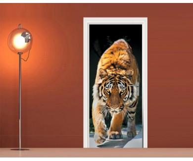 Наклейка на дверь Тигр