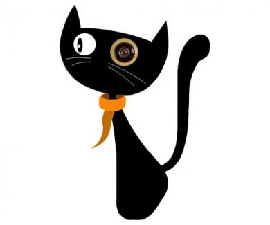 Наклейка на глазок Кошка