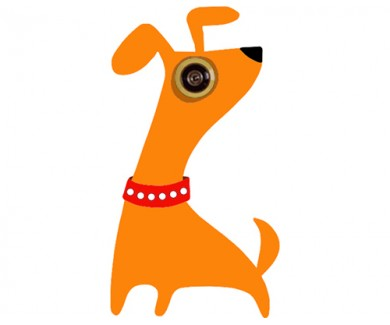 Наклейка на глазок Собака