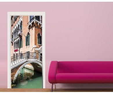 Наклейка на дверь Венеция
