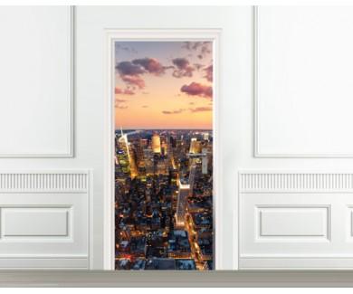 Наклейка на дверь Нью Йорк
