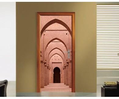 Наклейка на дверь Вход в мечеть в Морокко