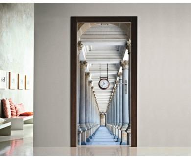 Наклейка на дверь Классический стиль колоннды в Карловых Варах