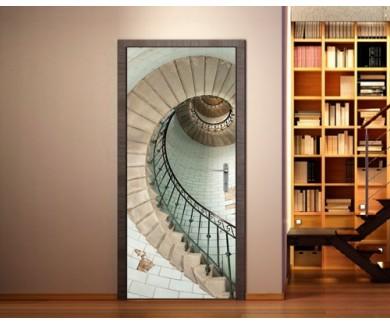 Наклейка на дверь Лестница на высокий маяк