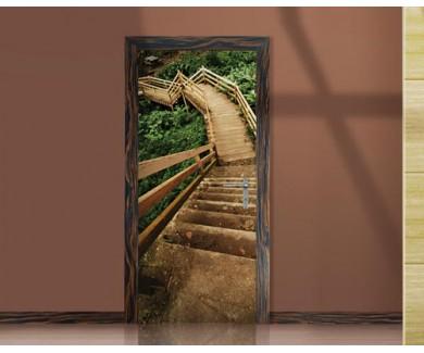 Наклейка на дверь Спуск с лестницы