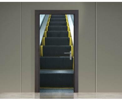 Наклейка на дверь Эскалатор