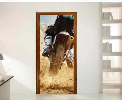 Наклейка на дверь Мотокросс