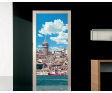 Наклейка на дверь Галатская Башня, Стамбул, Турция