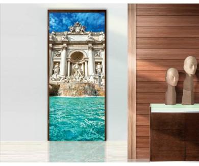 Наклейка на дверь Фонтан Треви, Рим