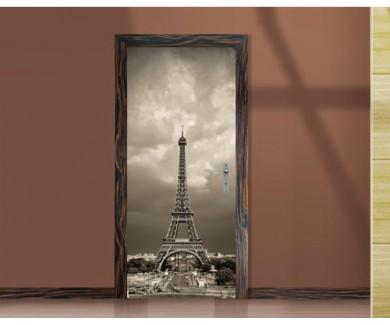 Наклейка на дверь Эйфелева башня