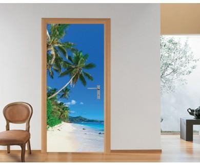 Наклейка на дверь Безмятежный морской пейзаж