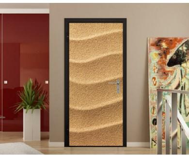 Наклейка на дверь Морской песок