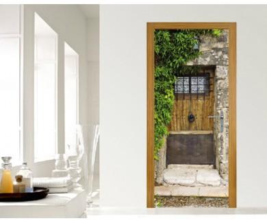 Наклейка на дверь Дверь Вальдемосский монастырь
