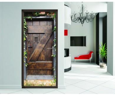 Наклейка на дверь Испанская дверь ведущая в секретный сад