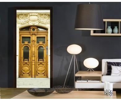 Наклейка на дверь Старая дверь, Париж