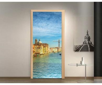 Наклейка на дверь Вид на Гранд Канал в Венеции, Италия