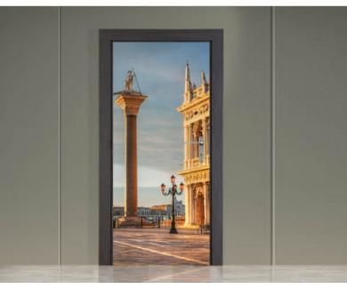 Наклейка на дверь Площадь Сан-Марко в Венеции