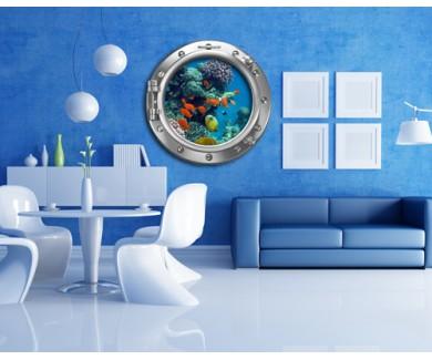 Наклейка на стену Подводный мир