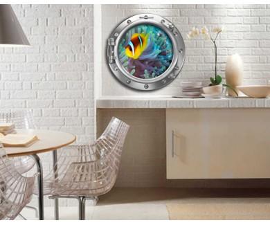 Наклейка на стену Рыба-клоун