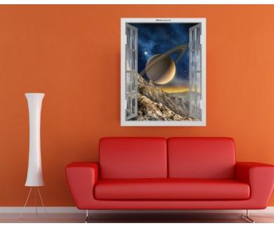 Наклейка на стену Великолепный вид на Сатурн