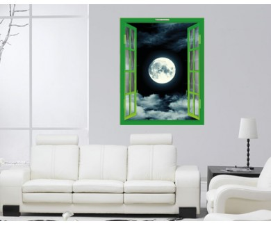 Наклейка на стену Ночное небо с видом на луну